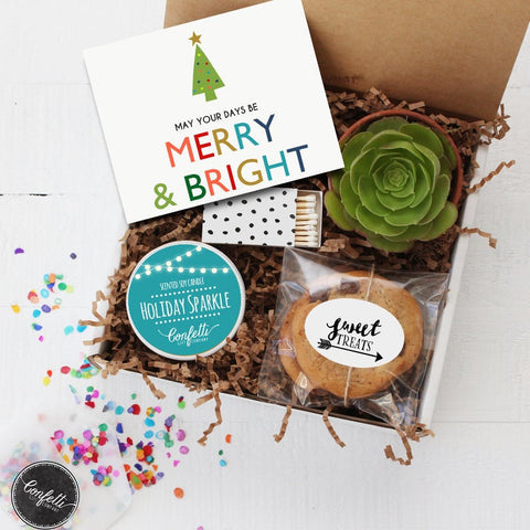 May Your Days Be Merry and Bright Gift Box - Christmas Gift Box