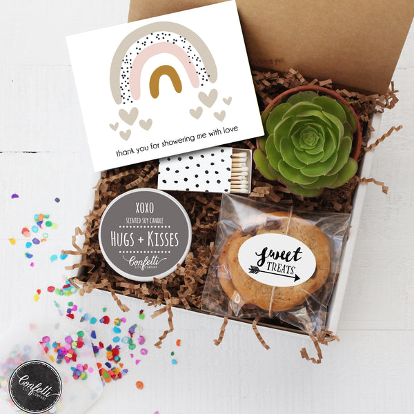 Shower Thank You Gift - Succulent Gift Box