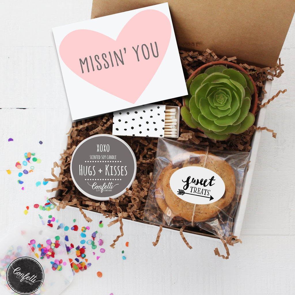 Miss You Gift - Succulent Gift Box