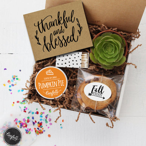 Thanksgiving Gift -  Thankful and Blessed Gift Box