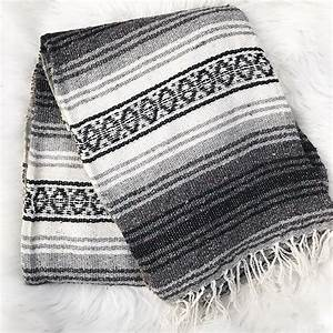 Authentic Mexican Blanket - 72 X 48 Inches