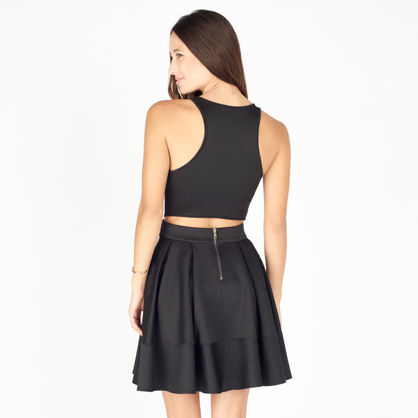 Gemini Fit & Flare Cutout Dress