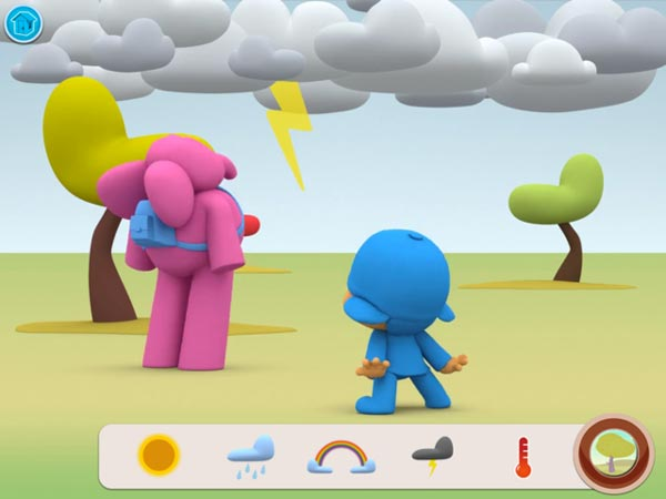 Pocoyo Weather Screen