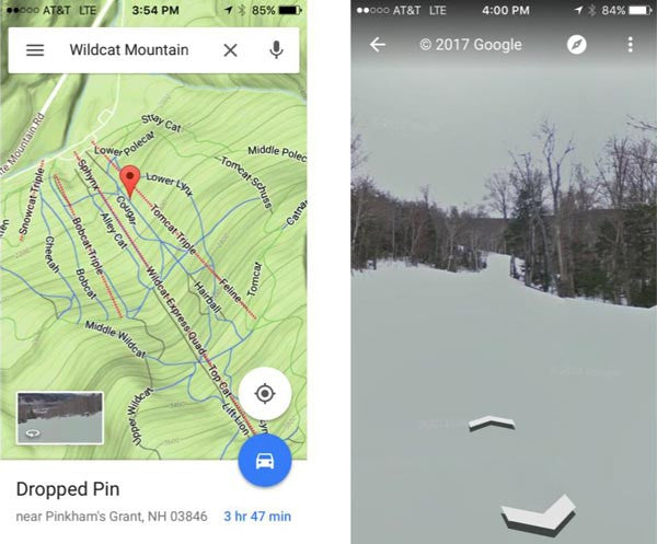 Screenshot of Google Mountain Maps