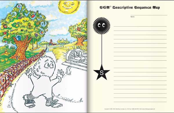 A Doy in The Park Activity Book page