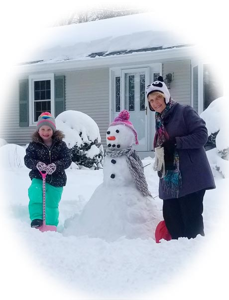 Casey and Maryellen snow photo