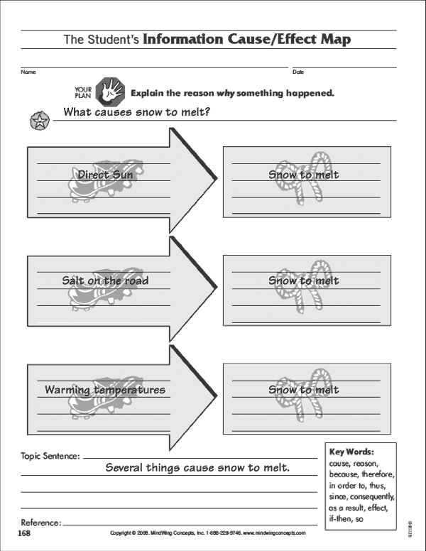 Cause/Effect Map from Talk to Write, Write to Learn Manual