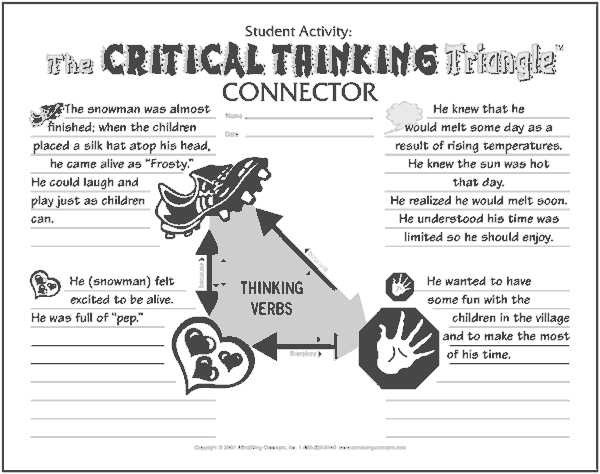 Critical Thinking Triangle Connector from Autism Collection Book 2