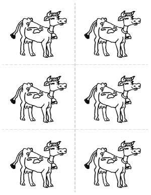 Cow Drawing Sheet image