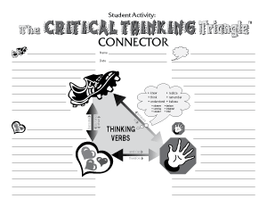 Critical Thinking Triangle Connector