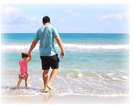 Father-Daughter at Beach photo