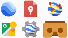 Google Earth logo set