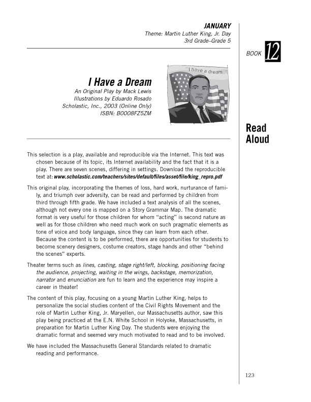 "Page 1, ""I Have A Dream"" Analysis"