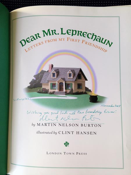 Dear Mr. Leprechaun Title Page Autographed