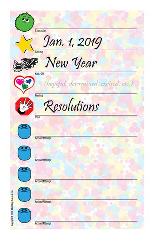 New Years Resolution Worksheet image
