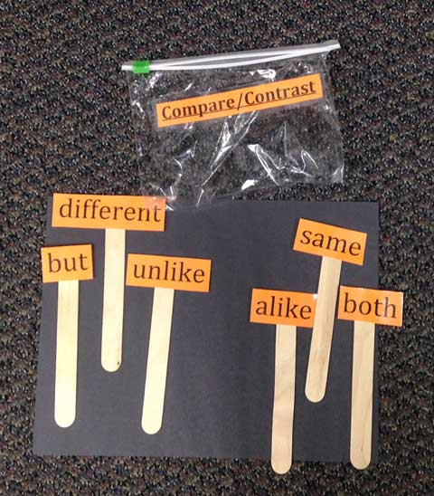 Word Cards on Sticks