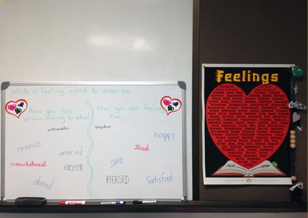 Whiteboard with Feelings Poster