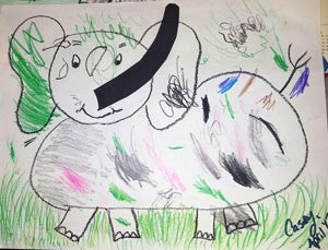 Casey's Elephant Drawing