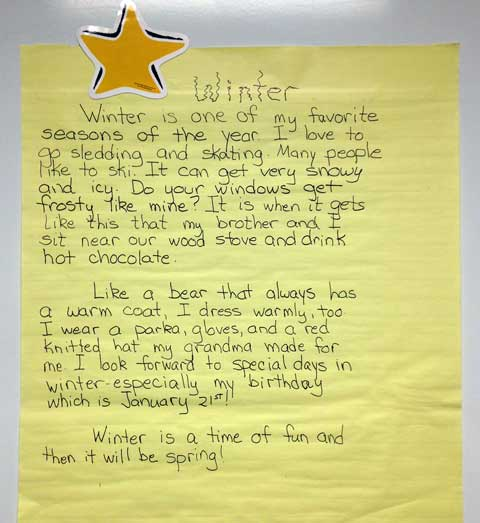 Winter descriptive essay