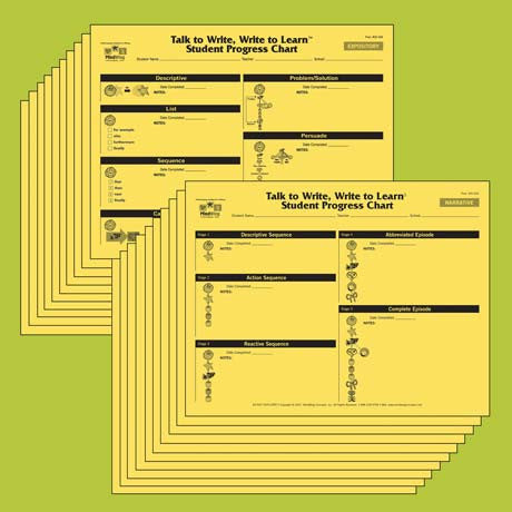 Talk to Write, Write to Learn™ Student Progress Charts (20-pack)
