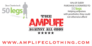 Amputee Life Clothing is proud to donate 10% of every purchase to 50Legs to help amputees obtain prosthetics they can not otherwise afford