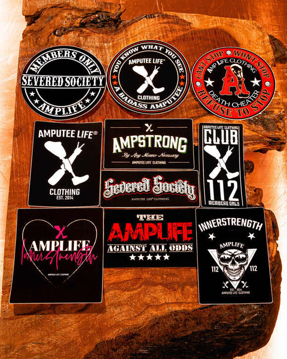 Amputee Life® Super Sticker Slap Pack 10 Count