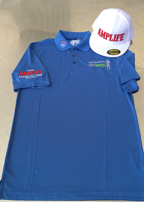 AMPUTEE LIFE® CLOTHING & 50 LEGS POLO Ocean Blue - Amputee Life® Clothing