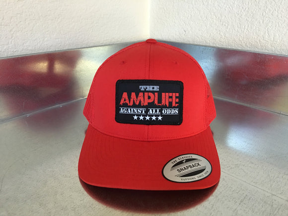 AMPLIFE™ Against All Odds SnapBack Trucker Red - Amputee Life® Clothing