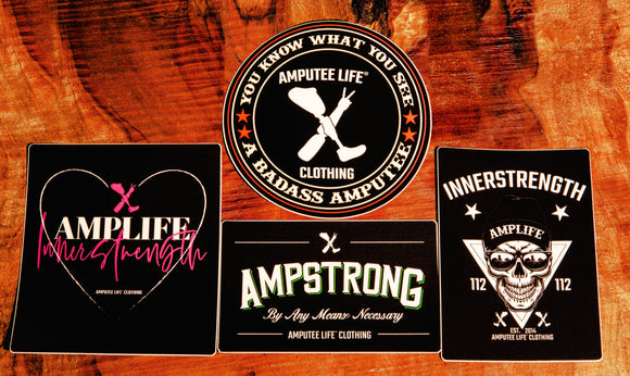Ampstrong Sticker Slap Pack 4 Count