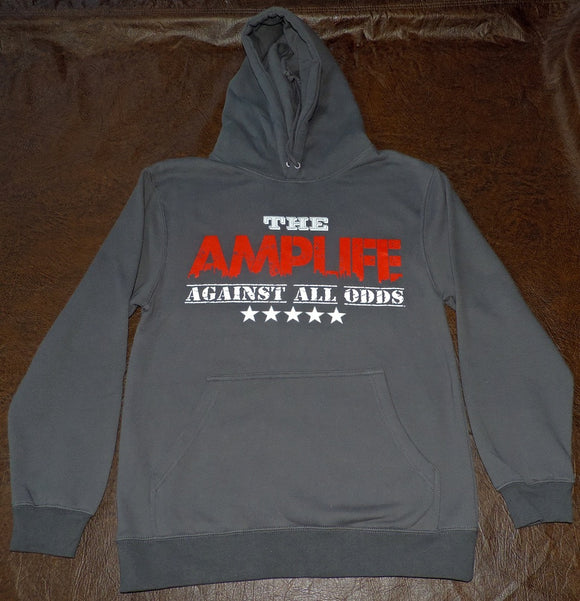 AMPLIFE™ AGAINST ALL ODDS Grey Hooded Sweatshirt - Amputee Life® Clothing