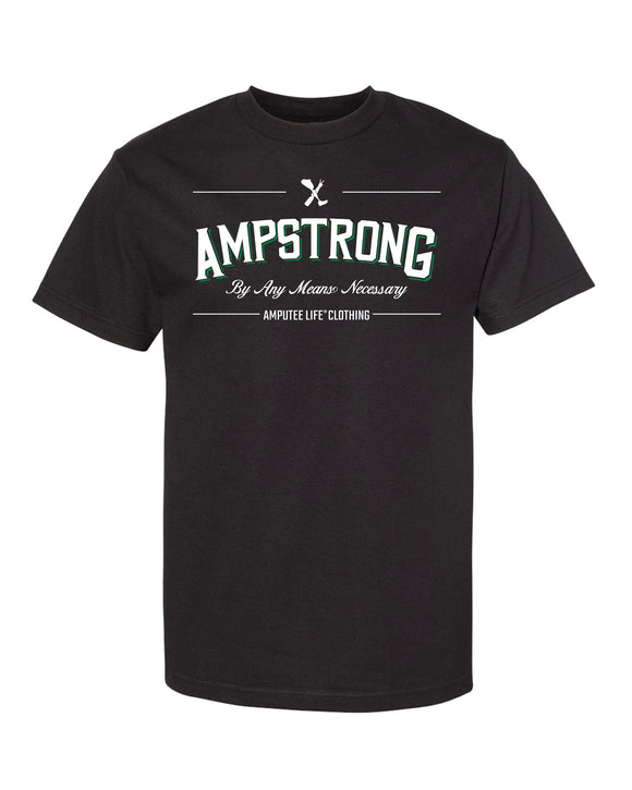 Ampstrong Men's Black T-Shirt with Green