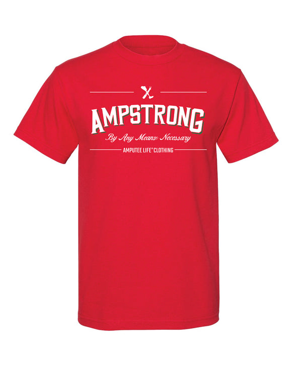 Ampstrong By Any Means Necessary Red T-Shirt with Green