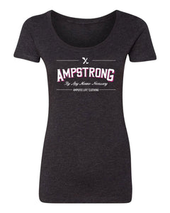 Ladies Scoop Neck Shirt Vintage Black  AMPSTRONG . By Any Means Necessary   Let 'em know and Rock it Proudly!