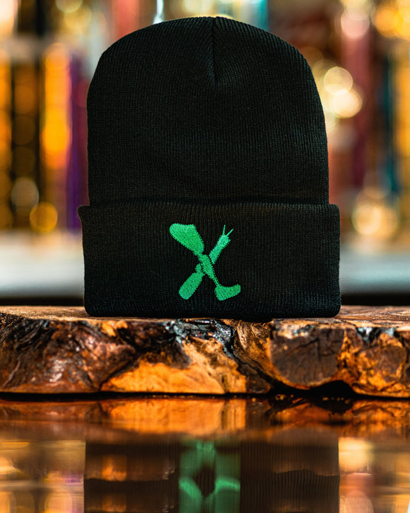 Amputee Life® Clothing Logo Beanie Black with Green  Every day we reach deep down to find that INNERSTRENGTH to never give up! Rock your AMPLIFE proudly!  100% Acrylic