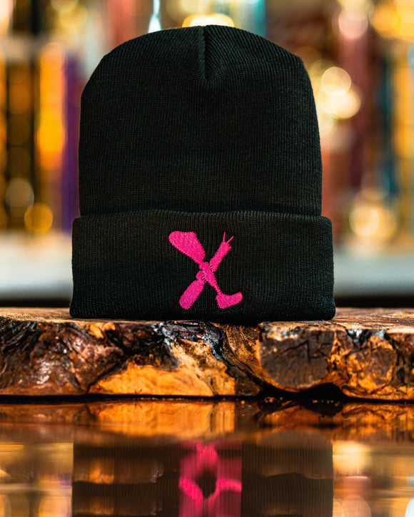 Amputee Life® Clothing Logo Beanie Black with Hot Pink  Every day we reach deep down to find that INNERSTRENGTH to never give up! Rock your AMPLIFE proudly!  100% Acrylic