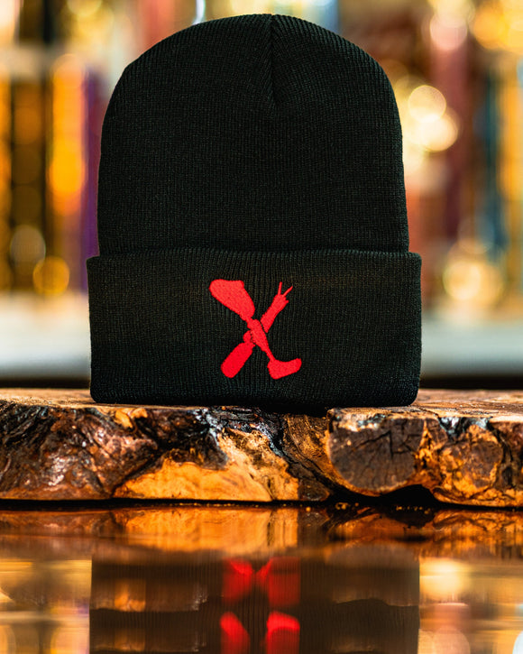 Amputee Life® Clothing Logo Beanie Black with Red  Every day we reach deep down to find that INNERSTRENGTH to never give up! Rock your AMPLIFE proudly!  100% Acrylic