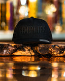 Amplife Black Trucker Snap Back with Black