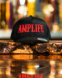 Amplife Black Trucker Snap Back With Red