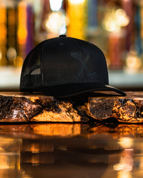 Amputee Life® Clothing Logo Black Trucker Snap Back With Black  Every day we reach deep down to find that INNERSTRENGTH to never give up!  Rock your AMPLIFE proudly!  65/35 polyester/cotton