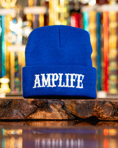 Amplife Beanie Blue with White
