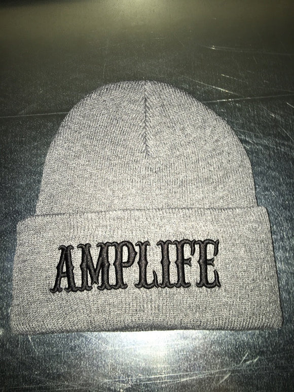 AMPLIFE BEANIE Grey with Black - Amputee Life® Clothing