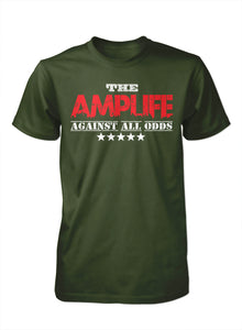 AMPLIFE™ AGAINST ALL ODDS Military Green T-Shirt - Amputee Life® Clothing