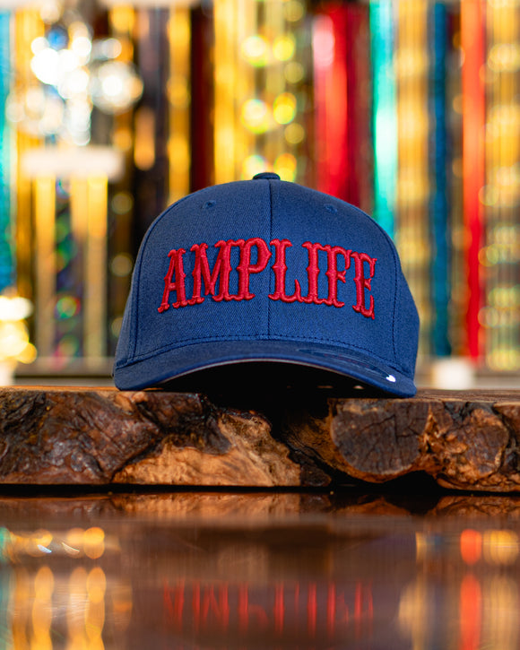 Amplife Flex Fit Curve Bill Navy with Red