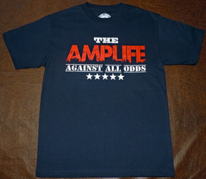 AMPLIFE™ AGAINST ALL ODDS Navy T-shirt - Amputee Life® Clothing