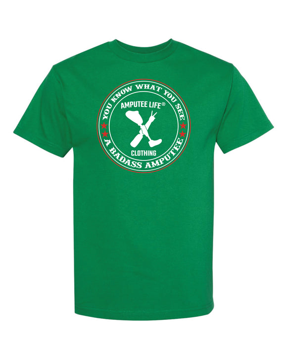 Badass Amputee T-Shirt Kelly Green