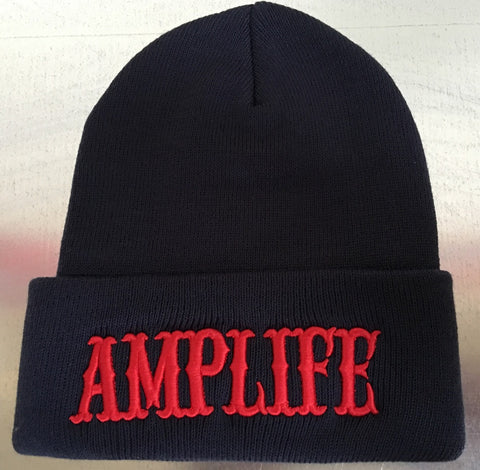 AMPLIFE BEANIE Navy & Red - Amputee Life® Clothing