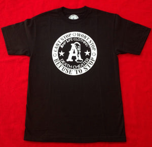 AMPLIFE DEATH CHEATER Black & White T-shirt - Amputee Life® Clothing