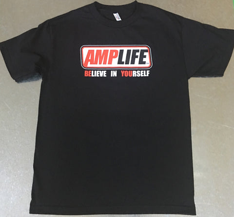 AMPLIFE™ BELIEVE IN YOURSELF Youth Black T-Shirt - Amputee Life® Clothing