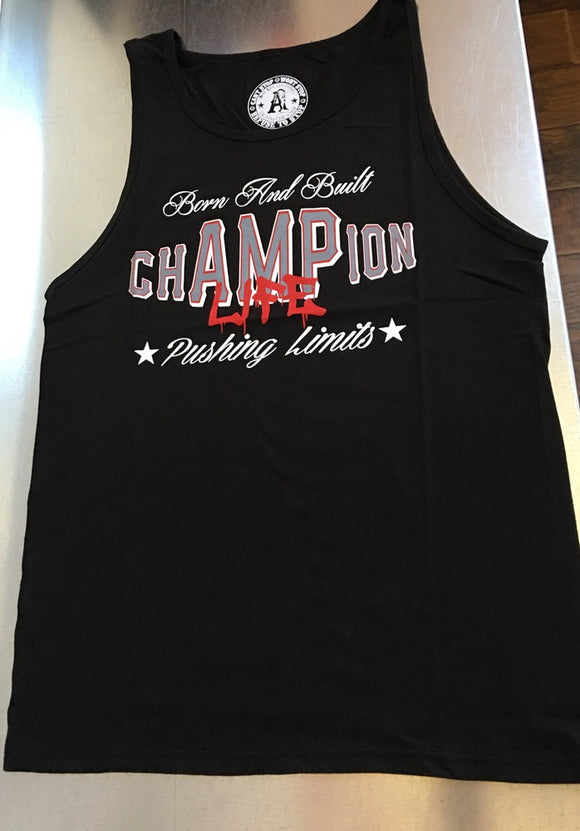 chAMPion Life Men's Black Tank Top - Amputee Life® Clothing
