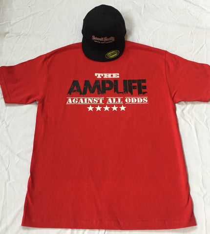 AMPLIFE AGAINST ALL ODDS Red T-shirt